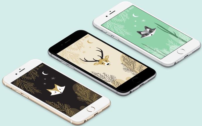 Animaux Foret Iphone Fond Ecran