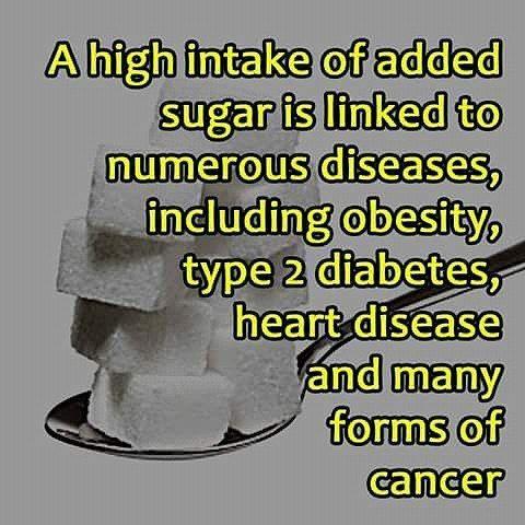 Added sugar is bad for our health #sugar #sugarfree #cancer