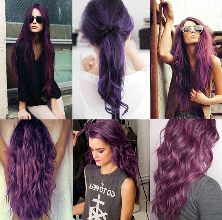 types of purple hair