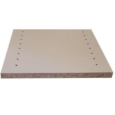 Veranda White Melamine Drilled Wood Shelf 11 75 In D X 97 In L 1605508 The Home Depot Melamine Shelving White Shelves Wall Storage Unit