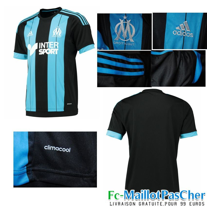 tenue de foot Olympique de Marseille noir