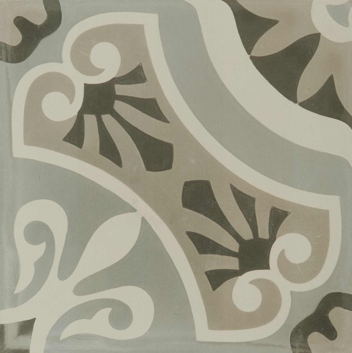 Artistic Tile Hydraulic Porcelain Collection Grey