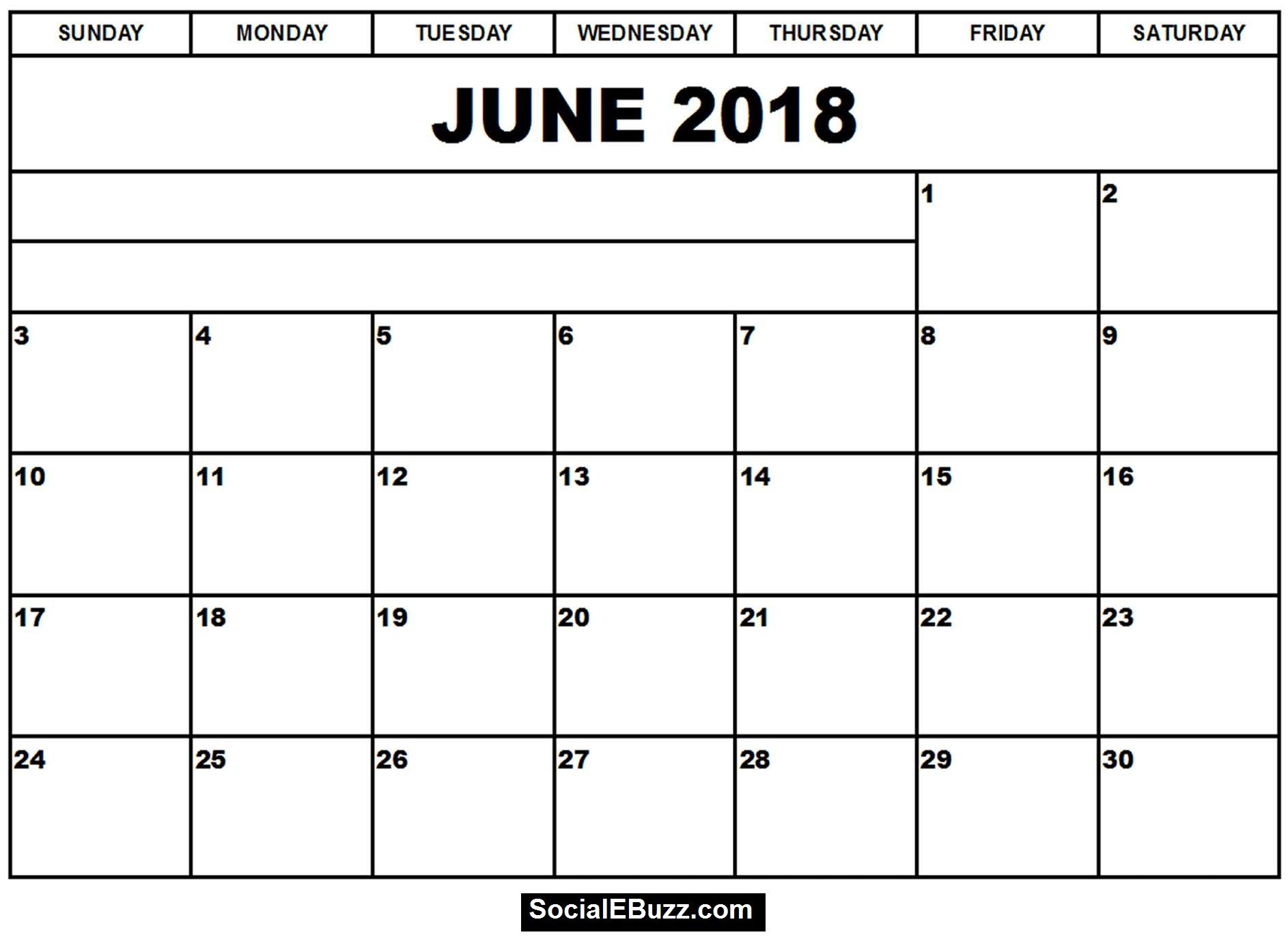 June  Calendar Printable Template June Calendar  June