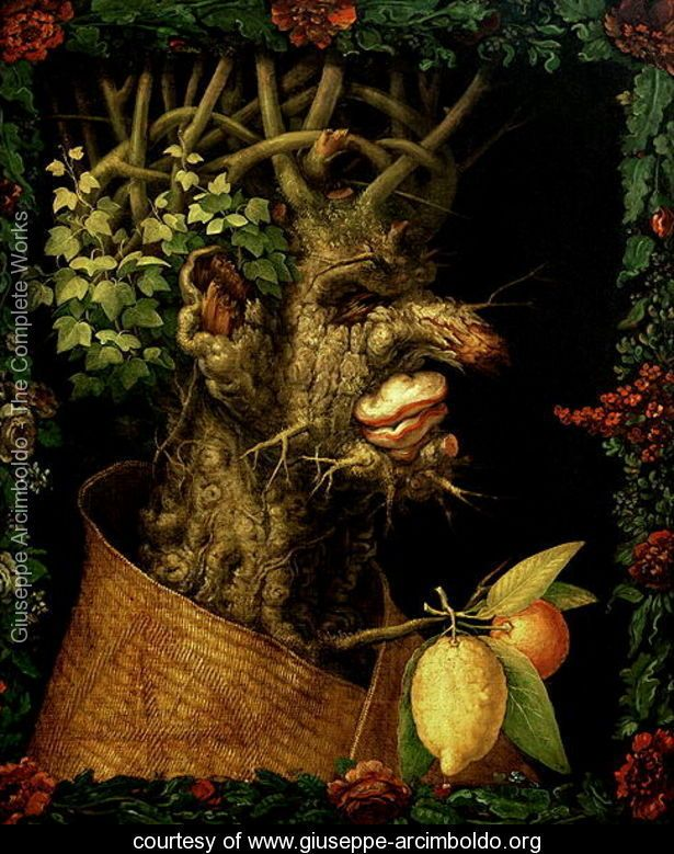 an analysis of autumn by giuseppe arcimboldo an oil on canvas painting The grey scale according to the painter giuseppe arcimboldo, and his attempt to   after returning to his native milan, arcimboldo continued to paint for his  imperial  just as the sun's rays painted grapes in red and yellow, so too did the  artist  the face of winter, one of the four seasons, emerged from a gnarled tree- trunk,.