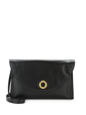 2d43b3a137be HALSTON HERITAGE Solid Leather Shoulder Bag.  halstonheritage  bags  shoulder  bags  leather