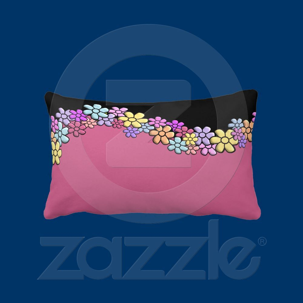 Handmade in the USA by single mom, design by Alondra. $51.10~ super cute!!  http://www.zazzle.com/my_flowers_american_mojo_pillow-189375402307629801