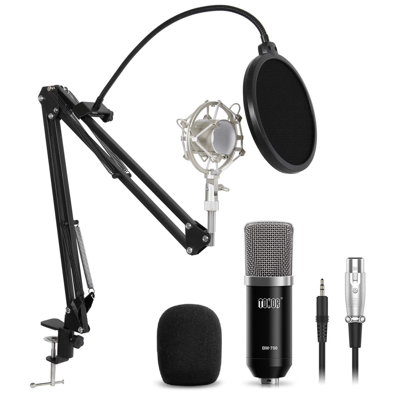 Professional Condenser Microphone,Youtube Podcasting Studio Tonor Mic Audio