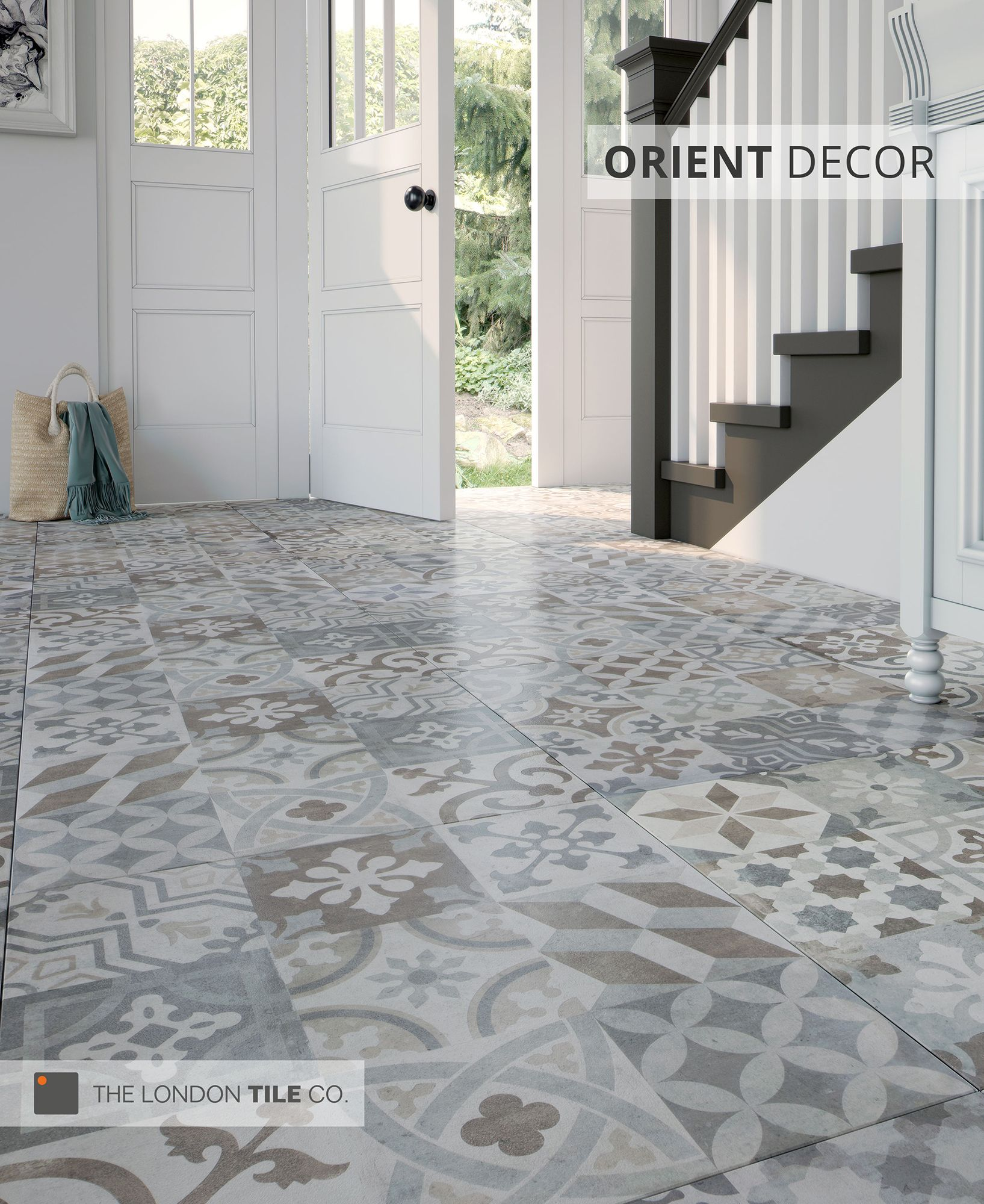 the orient range of patterned floor tiles are both stylish. Black Bedroom Furniture Sets. Home Design Ideas