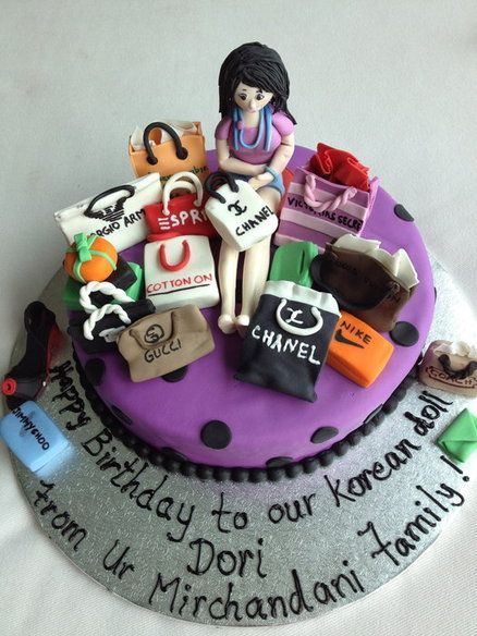 Shopaholic Born To Shop Shopping Theme Cakes Cupcakes Mumbai 27