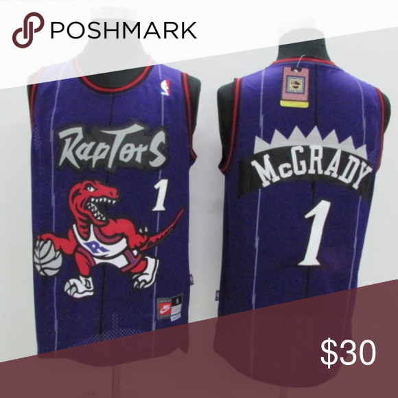 the latest 9b9d8 5676e Tracy McGrady Toronto Raptors #1 Throwback Jersey Authentic ...