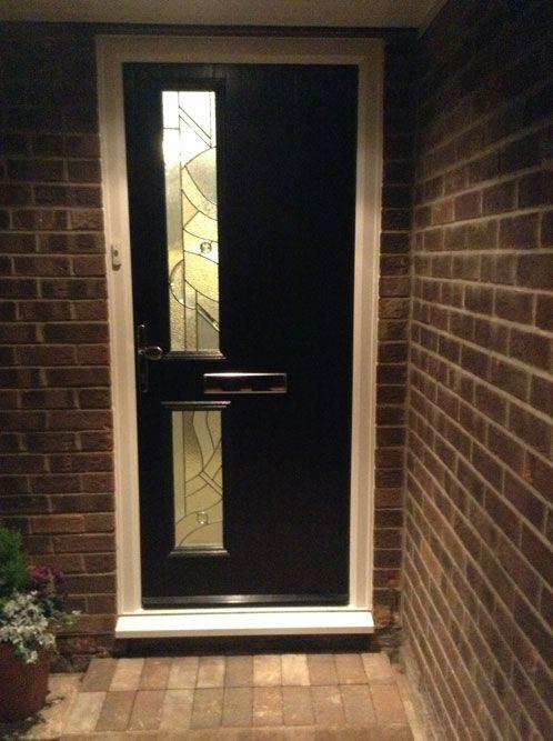 Twin Square Abstract Composite Front Door in Black | front door ...