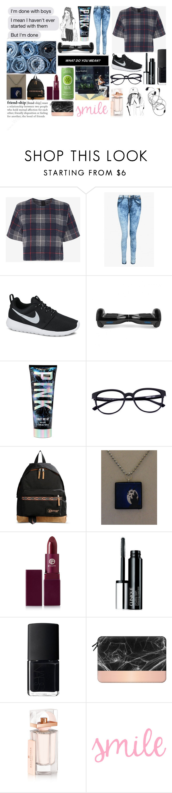 """""""Friend*Ship"""" by itsme-bibicha ❤ liked on Polyvore featuring rag & bone, NIKE, AllSaints, Eastpak, Lipstick Queen, Clinique, NARS Cosmetics, Casetify and Balenciaga"""