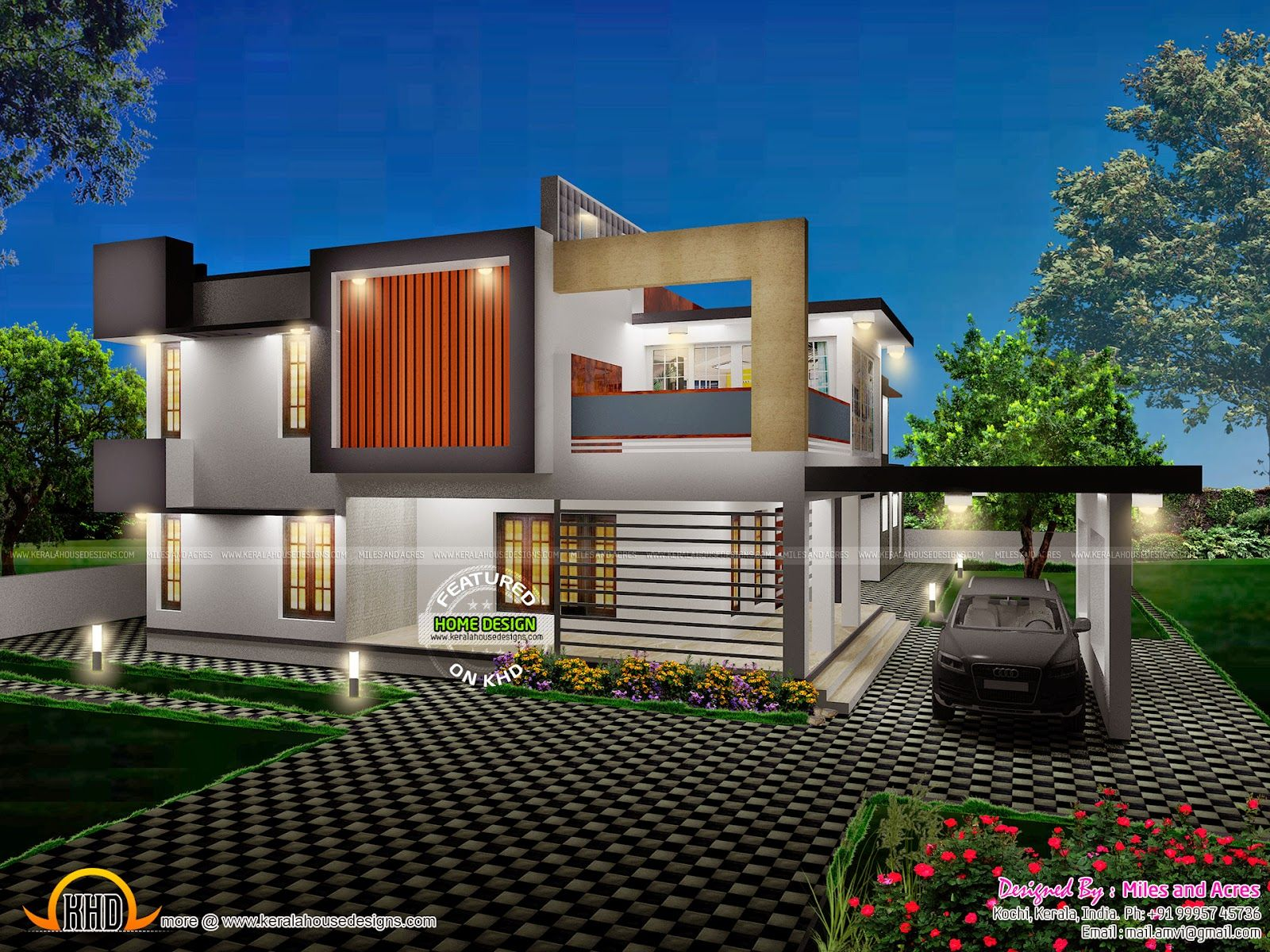 view with plan kerala home design and floor plans house rustic ...