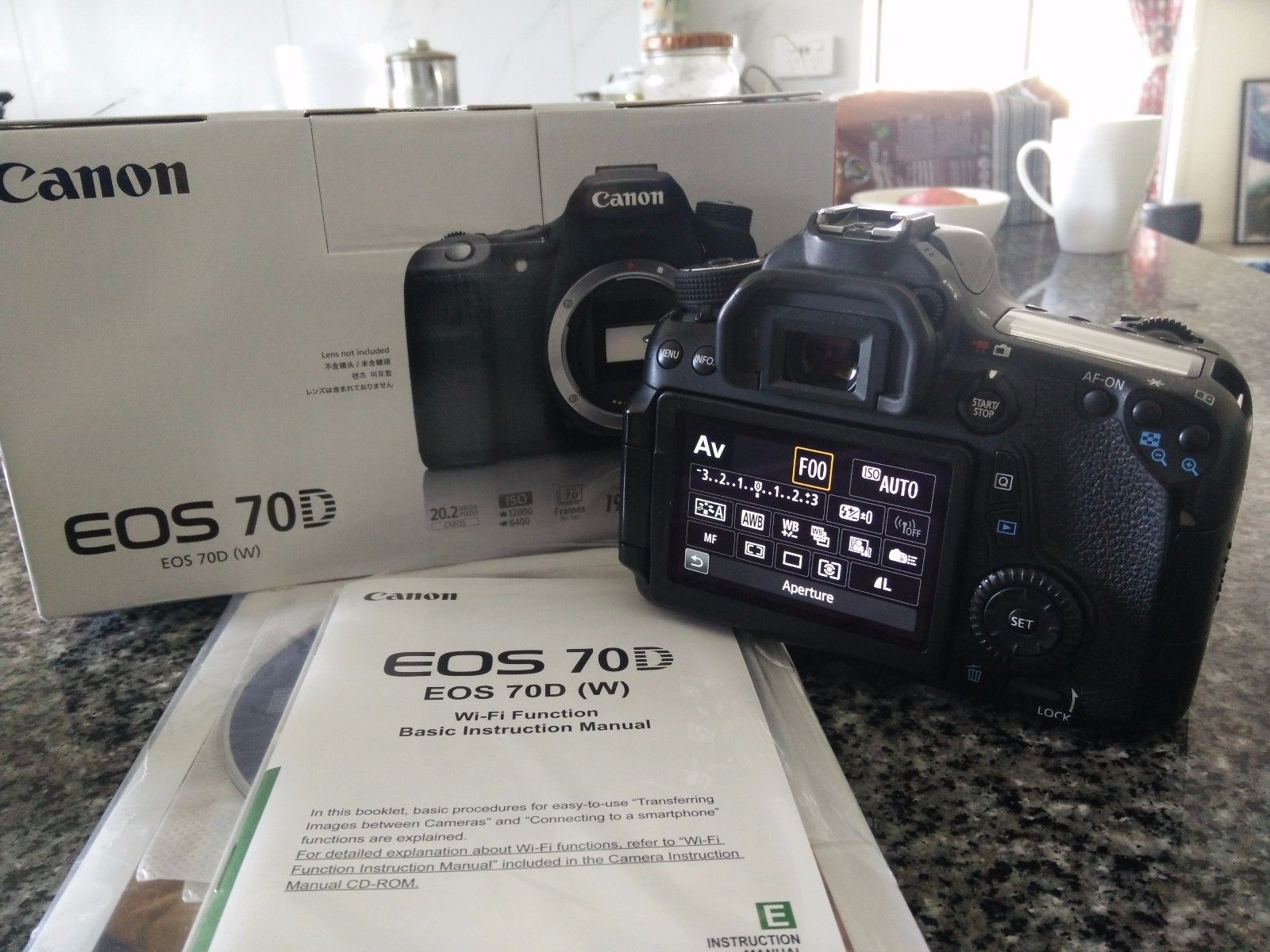 Canon EOS 70D 20 2 MP Digital SLR Camera (Body Only) IN BOX