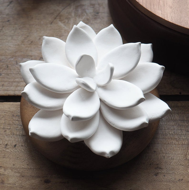 Essential Oil Diffuser Air Freshener Star Flower Made Of Etsy In 2020 Fragrance Candle Oil Diffuser Air Freshener