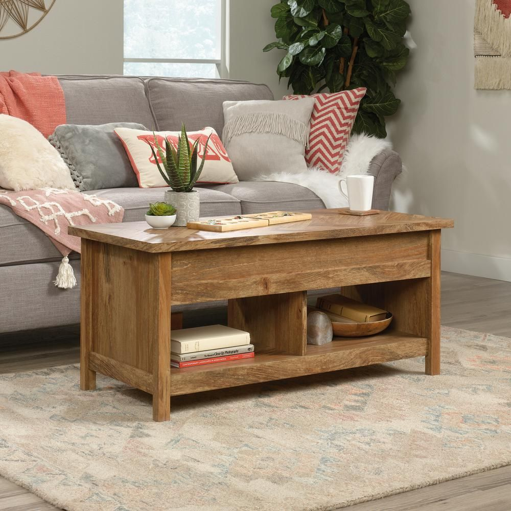 Sauder Cannery 44 In Sindoori Mango Large Rectangle Composite Coffee Table With Lift Top 424191 The Home Depot Coffee Table Coffee Table With Storage Lift Top Coffee Table [ 1000 x 1000 Pixel ]