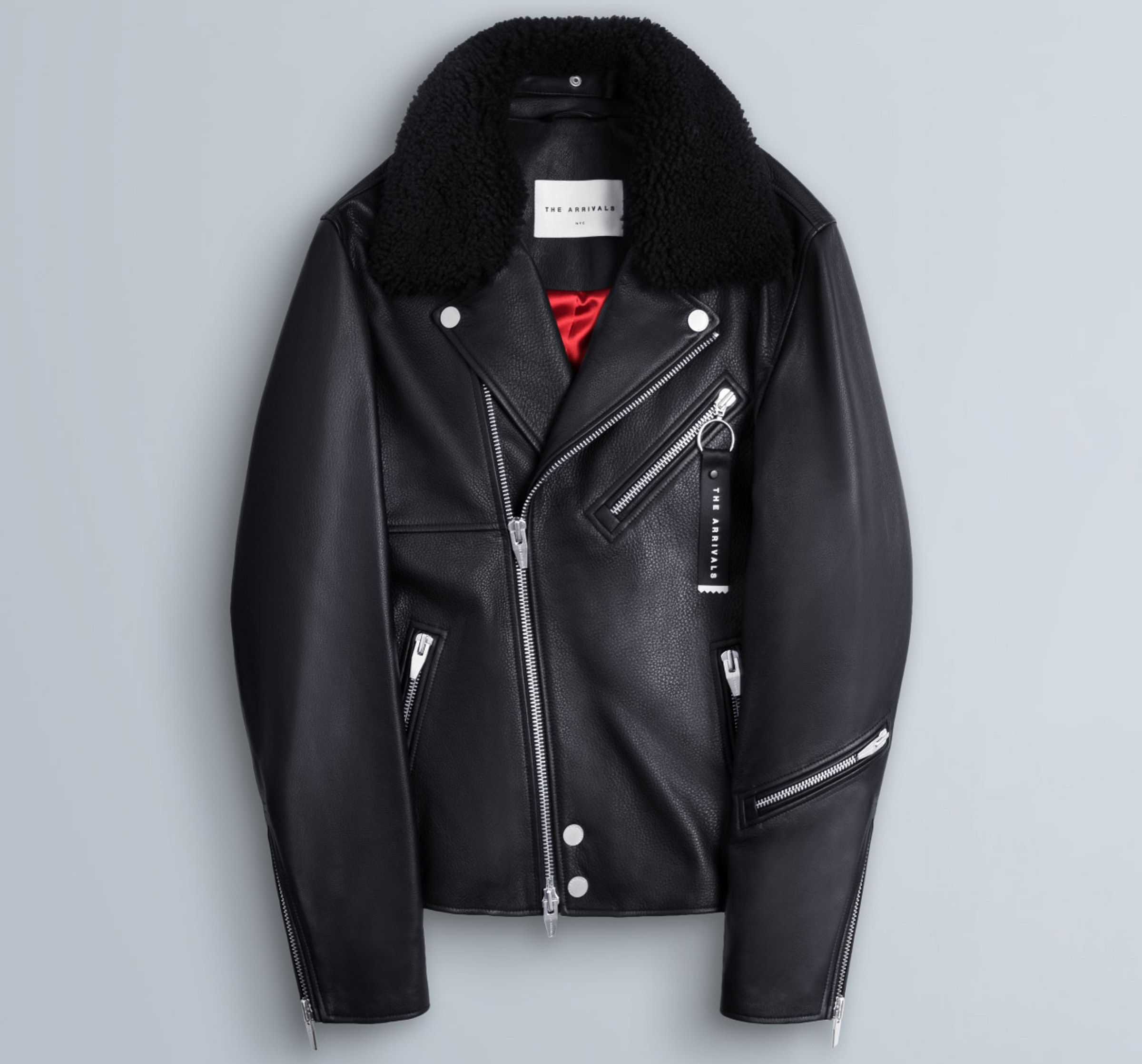 Madsen The Arrivals Outerwear Menswear Leather Jacket [ 2235 x 2400 Pixel ]