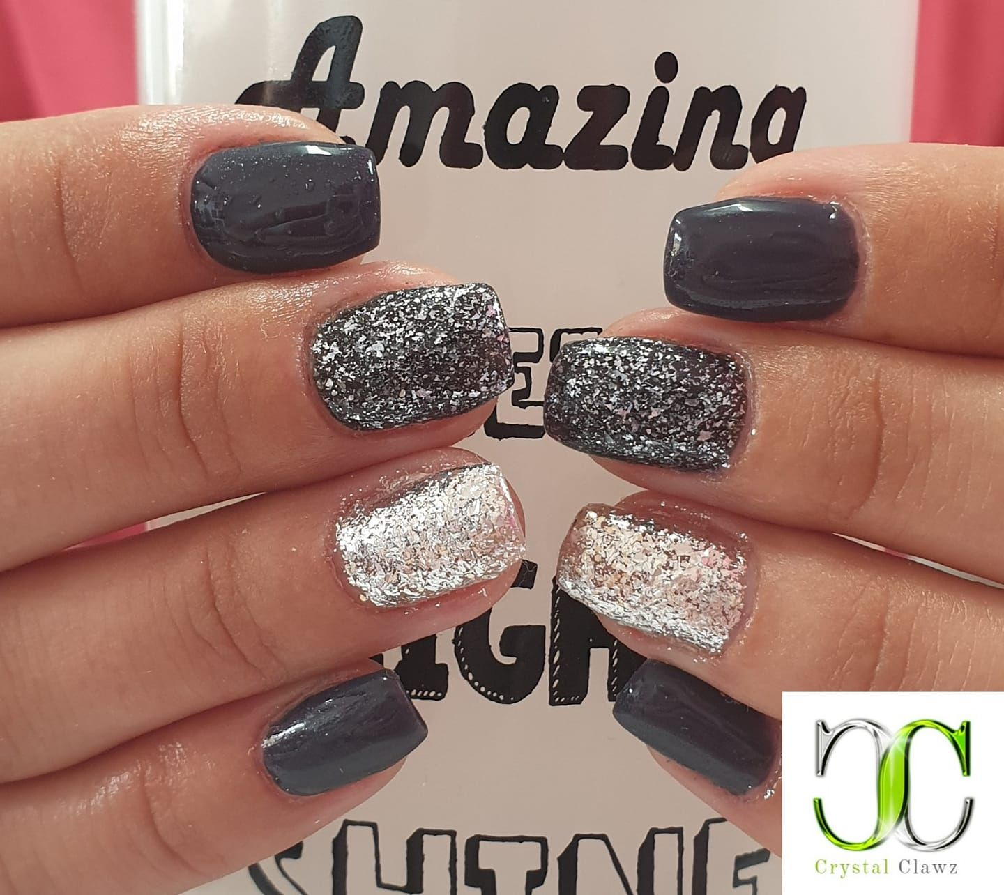 Black With Our Amazing Crystal Clawz Diamond Gel Polishes Love Them Together Crystalclawz Bestgelbrand Bestgel Bestge Nails Swag Nails Nail Art Supplies