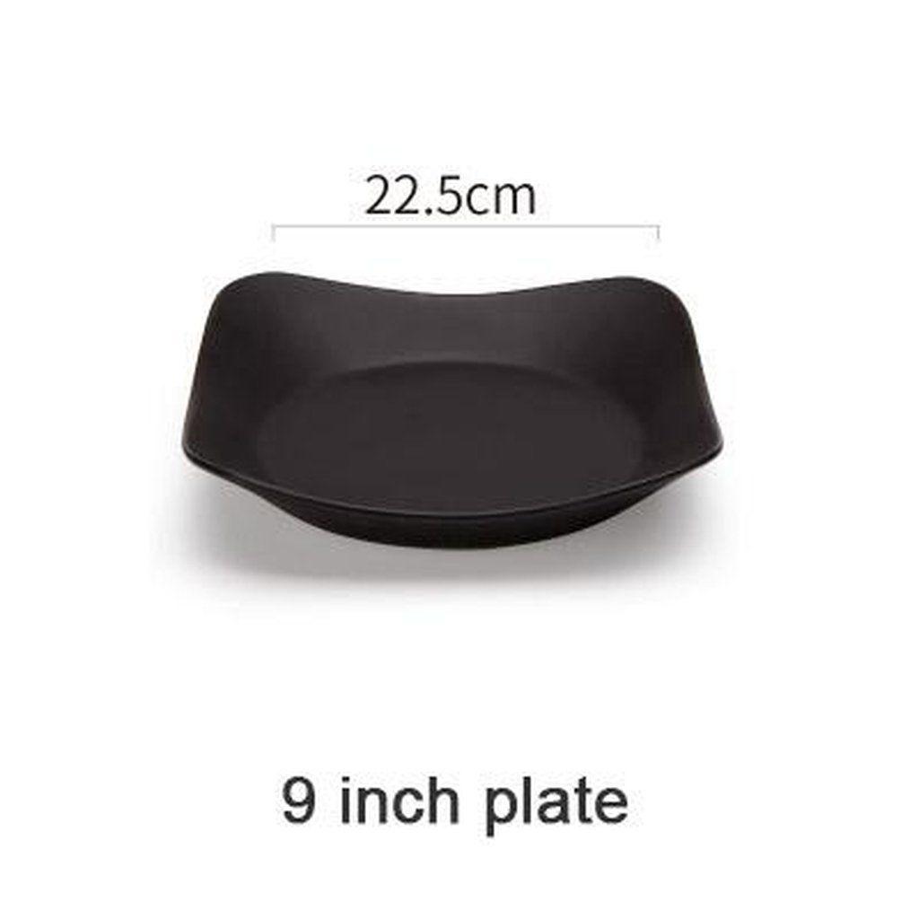 Pure Black Dinnerware Ceramic Plate Bone China Porcelain Matte Bowl Divided Plate Saucer Dish  sc 1 st  Pinterest & Pure Black Dinnerware Ceramic Plate Bone China Porcelain Matte Bowl ...