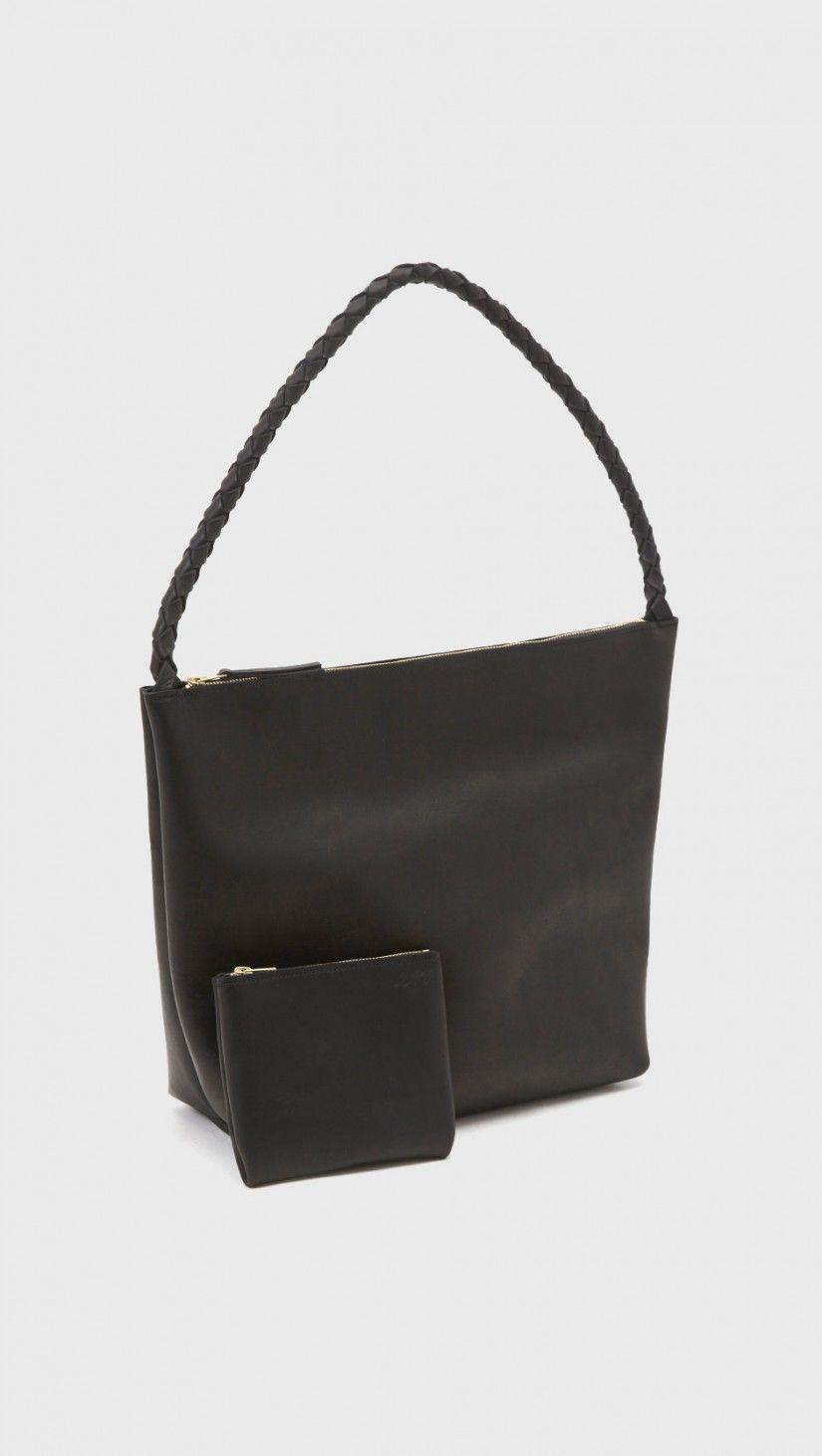 Ara Single Strap Zipper Tote No.1 in Black   The Dreslyn