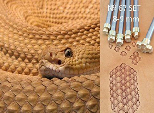 Python Skin Leather Stamp Tool Stamps Stamping Carving Punches Tools Craft Leathercrafting