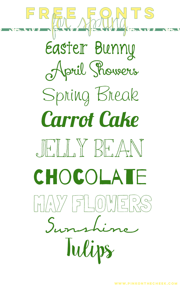 Download Free Fonts for Spring @ PinkOnTheCheek ~~ {9 free fonts w ...