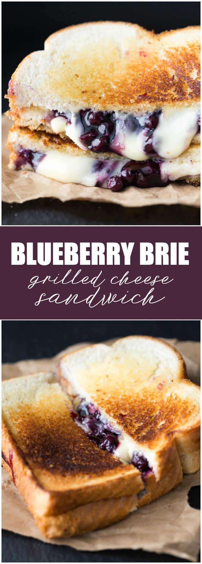Blueberry Brie Grilled Cheese Sandwich #sandwichrecipes