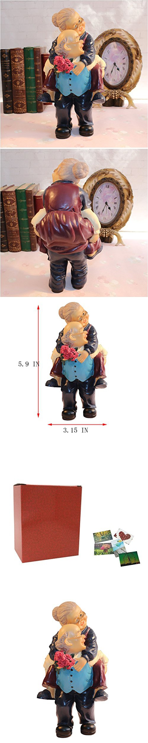 Birthday Wedding Gift Figurines Collectibles Of Grand Mother Father Handmade Back Carry Elderly
