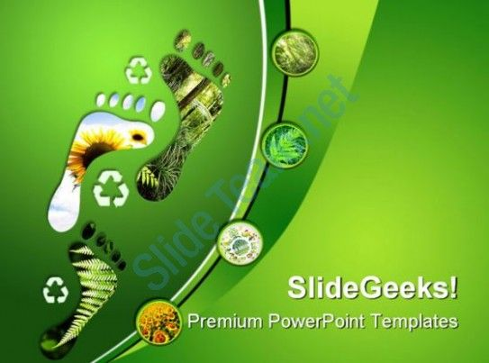 Environmental Footprints Nature Powerpoint Templates And Powerpoint