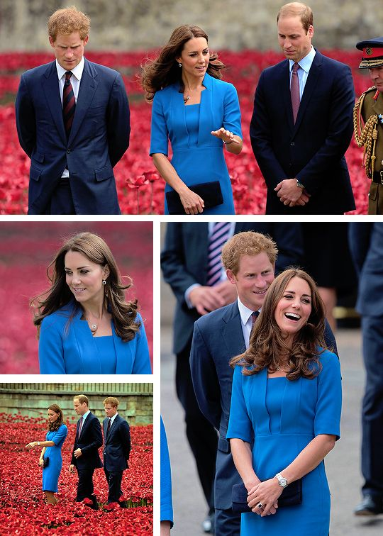 ff8758d678afe 2 Years Ago Today  The Duke   Duchess of Cambridge and Prince Harry visit  The Tower of London s Ceramic Poppy Field at The Tower of London on August  5
