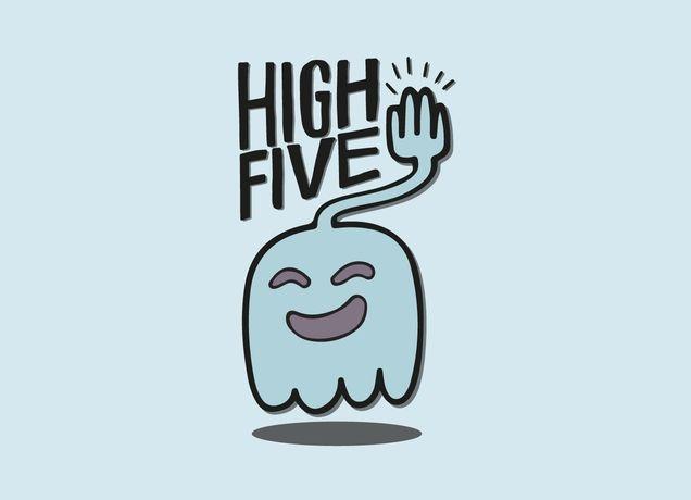 High Five Ghost Says High Five High Five Cartoon Legs Sayings