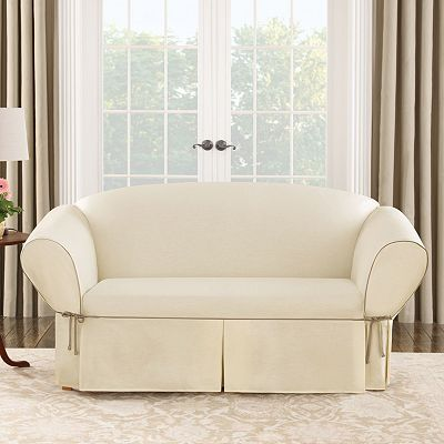 High Quality Sure Fit Chief Value Cotton Duck Cloth Loveseat Slipcover