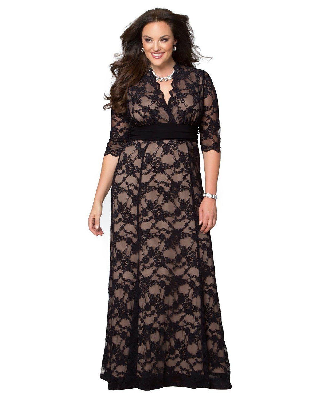 Kiyonna Women\'s Plus Size Screen Siren Lace Gown: Amazon ...