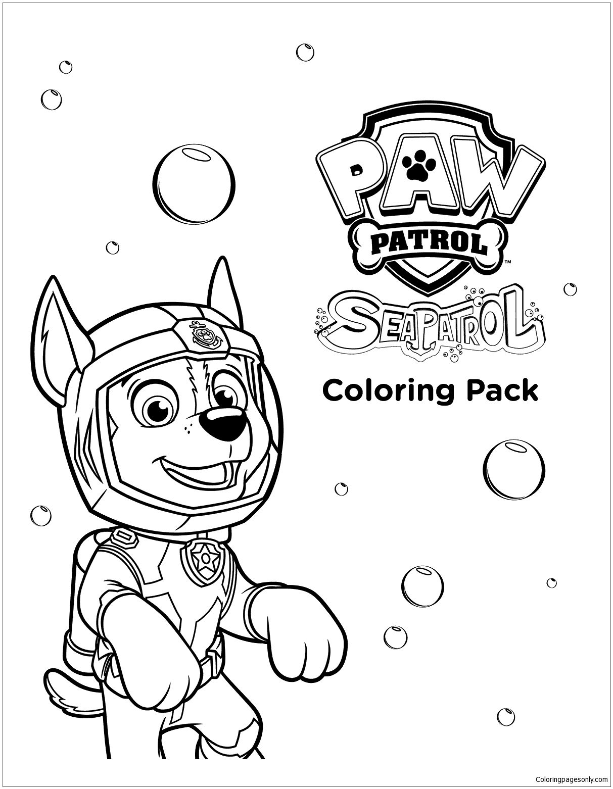 Sea Paw Patrol Coloring Page | Paw Patrol Coloring Pages | Pinterest ...