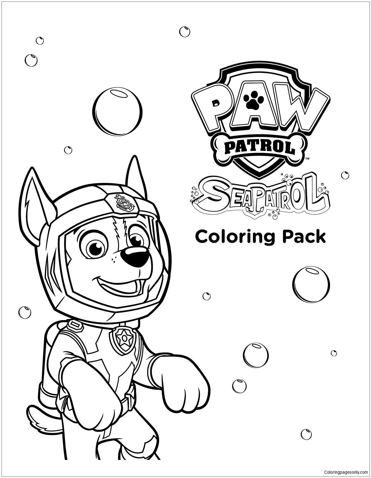 Sea Paw Patrol Coloring Page Paw patrol coloring, Paw