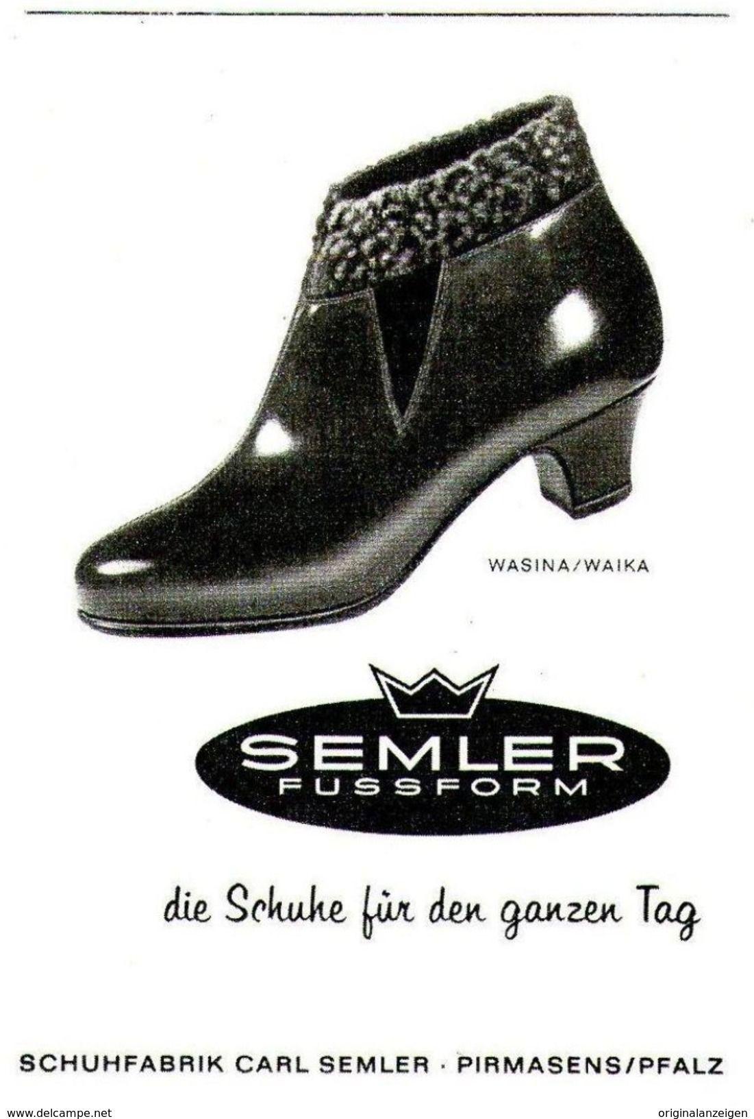 sports shoes 4ff9e b3f22 Original-Werbung/ Anzeige 1962 - SEMLER SCHUHE / PIRMASENS ...
