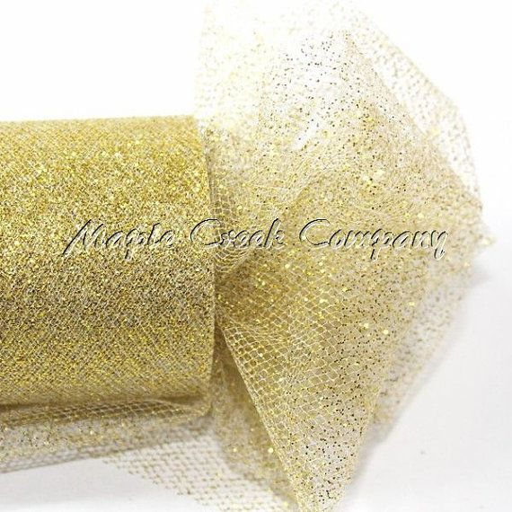 "30 ft wedding /& decoration 54/"" by 10 yards Ivory Glitter Tulle Fabric bolt"