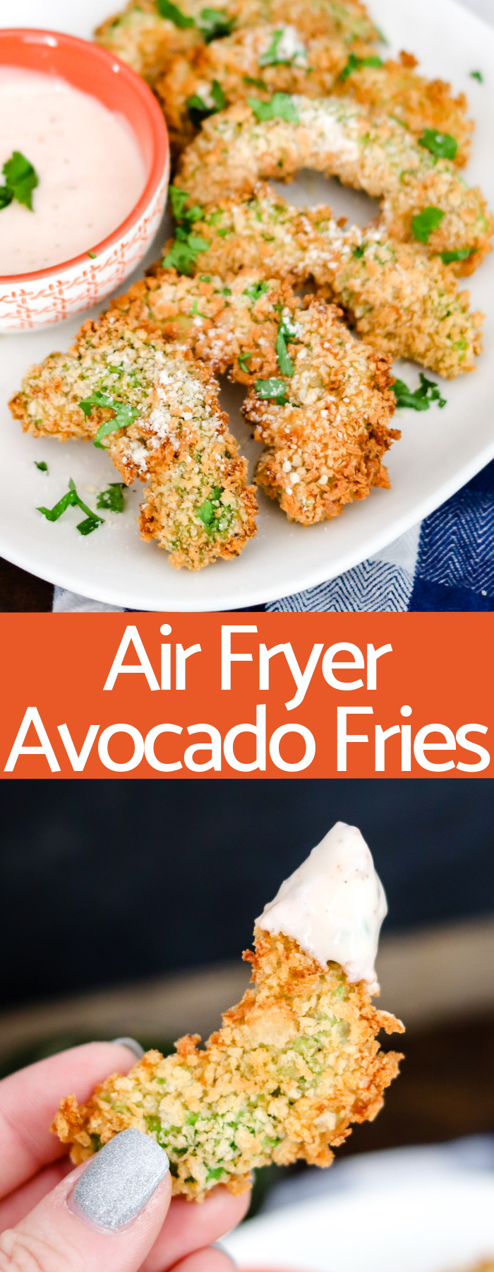 Air Fryer Avocado Fries are creamy and crunchy without any