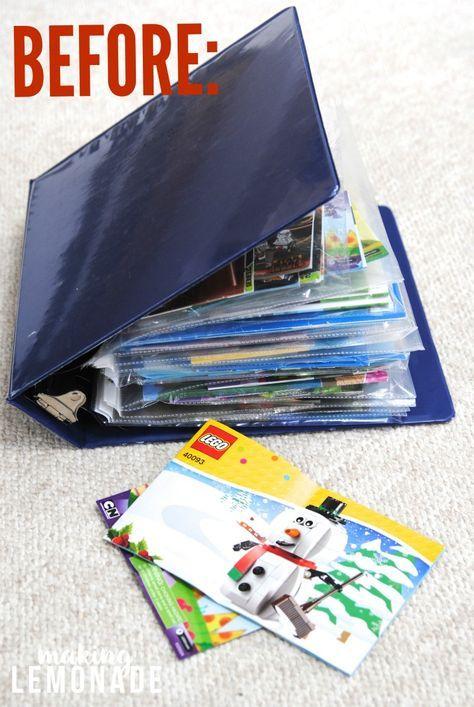 How To Organize LEGO Manuals (+ Free LEGO Printables!)