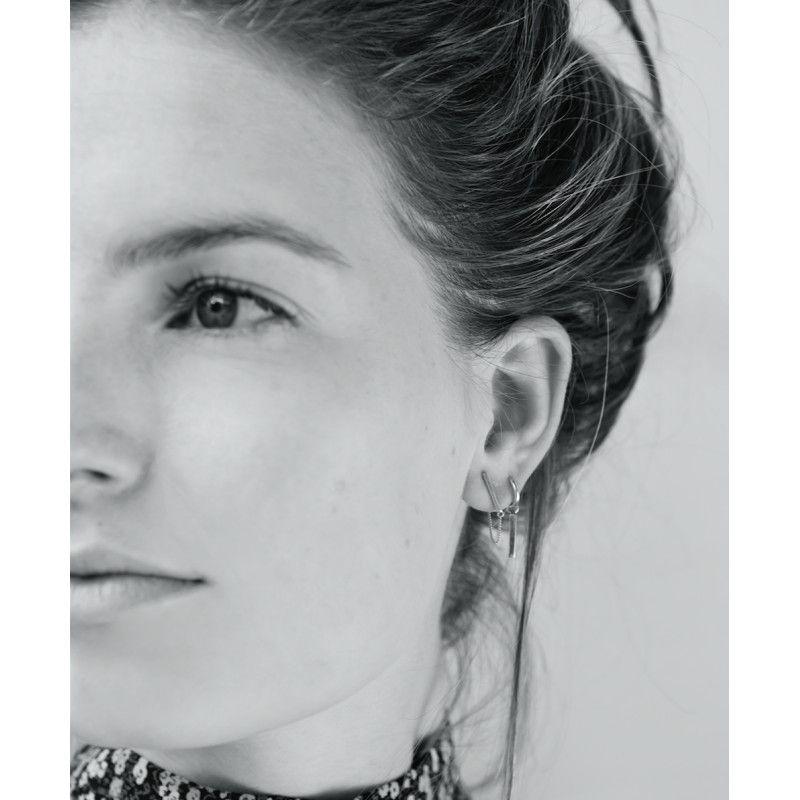 Bar Chain Earring Silver Anna Nina