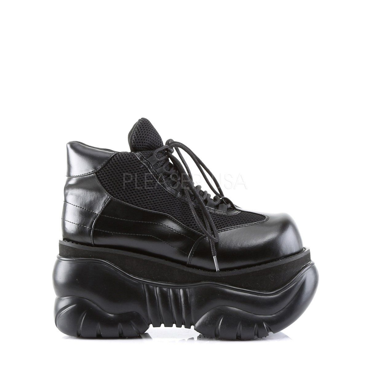 f2325784b77214 4 inch PF Cyber Lace Up Sneaker Shoes 4 inch (10.2cm) Platform Cyber Punk  Lace Up Sneaker Shoes Vegan Style Men s Sizing Size Range  Men s 5-12