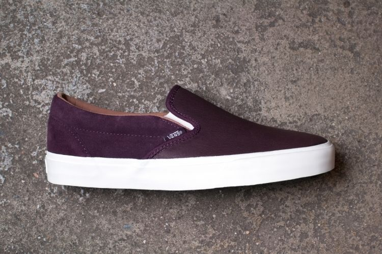 203cfb1ca18e66 Vans CA Classic Slip on Skate Shoes 10 5 Winetasting Premium Torino Leather  BNIB