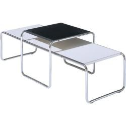 Photo of Couchtisch Laccio Table Knoll International schwarz, Designer Marcel Breuer, 45x55x48 cm Knoll Inter