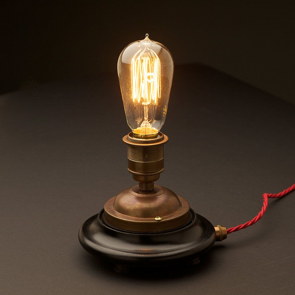 edison table lamp vintage home lighting. Edison Light In The Simplest Of Stands, Stunning Edison Table Lamp Vintage Home Lighting B