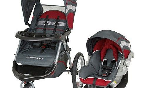 Baby Trend Expedition ELX Travel System With 2 Car Seat Bases Baltic