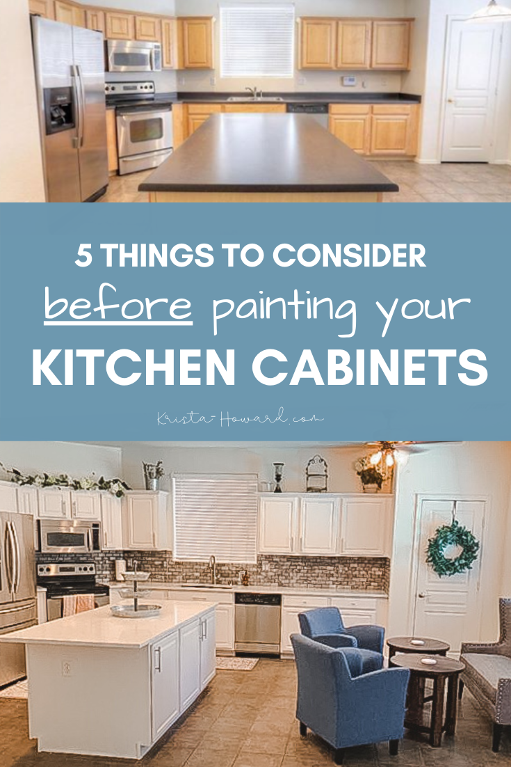 5 Things To Consider Before Painting Your Kitchen Cabinets In 2020 Diy Kitchen Cabinets Diy Kitchen Cabinets Painting Diy Kitchen