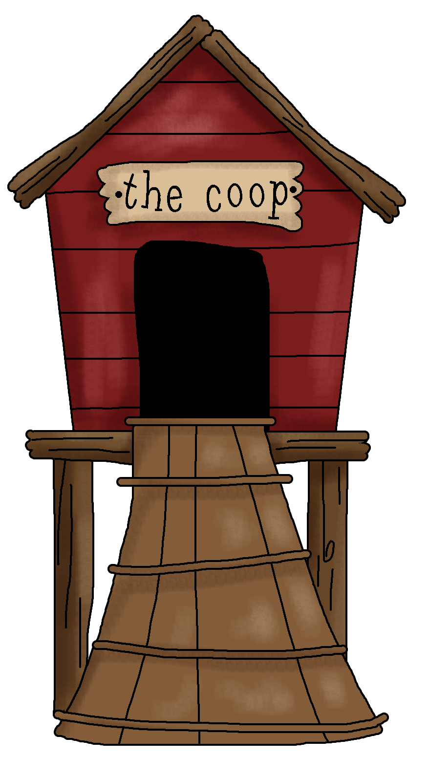 hight resolution of hen house clipart clipart kid