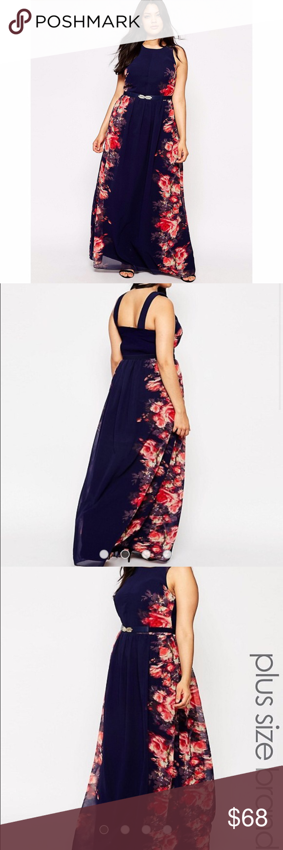 Asos floral maxi gold belts floral maxi and dark blue