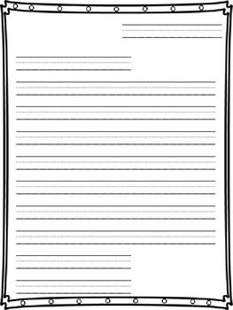 Friendly Letter Writing Paper  Friendly Letter Writing Paper And