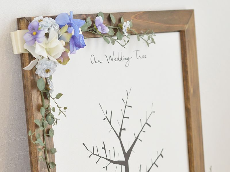ウエディングツリー:かわいい切り絵風でガーリーテイストなウェディングツリー/シュエット